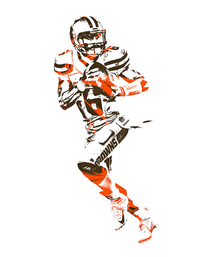 Baker Mayfield Cleveland Browns Pixel Art 1
