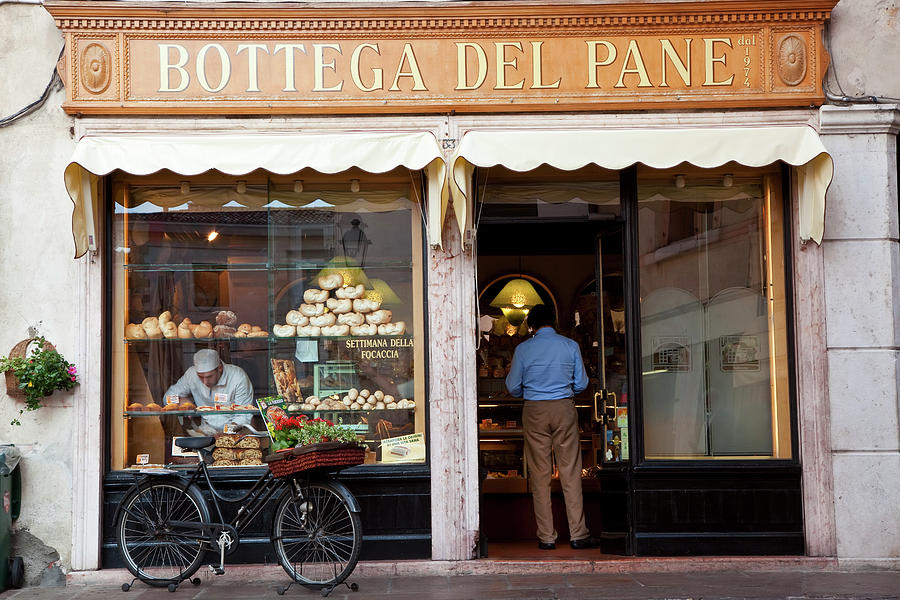 Bakery, Bassano Del Grappa, Veneto Photograph by Peter Adams
