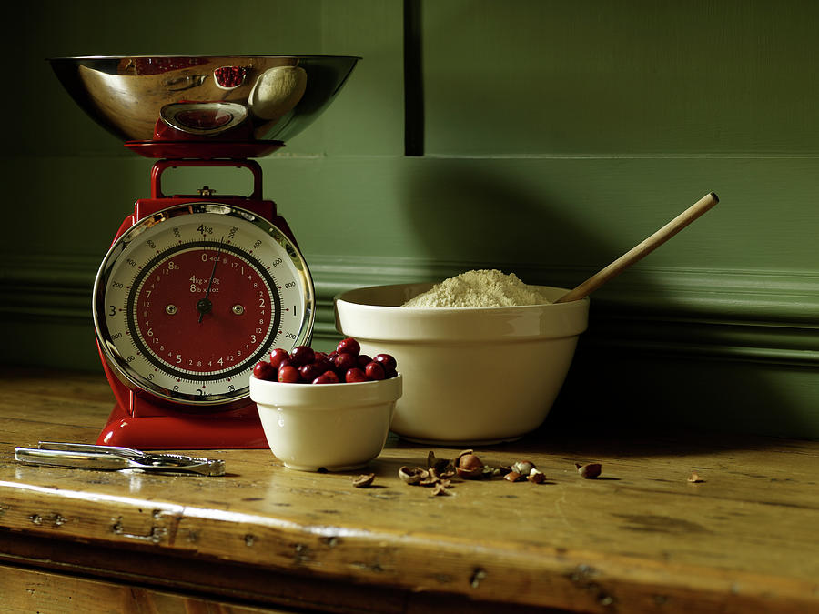 Baking Ingredients Sit On Table Photograph by Max Oppenheim