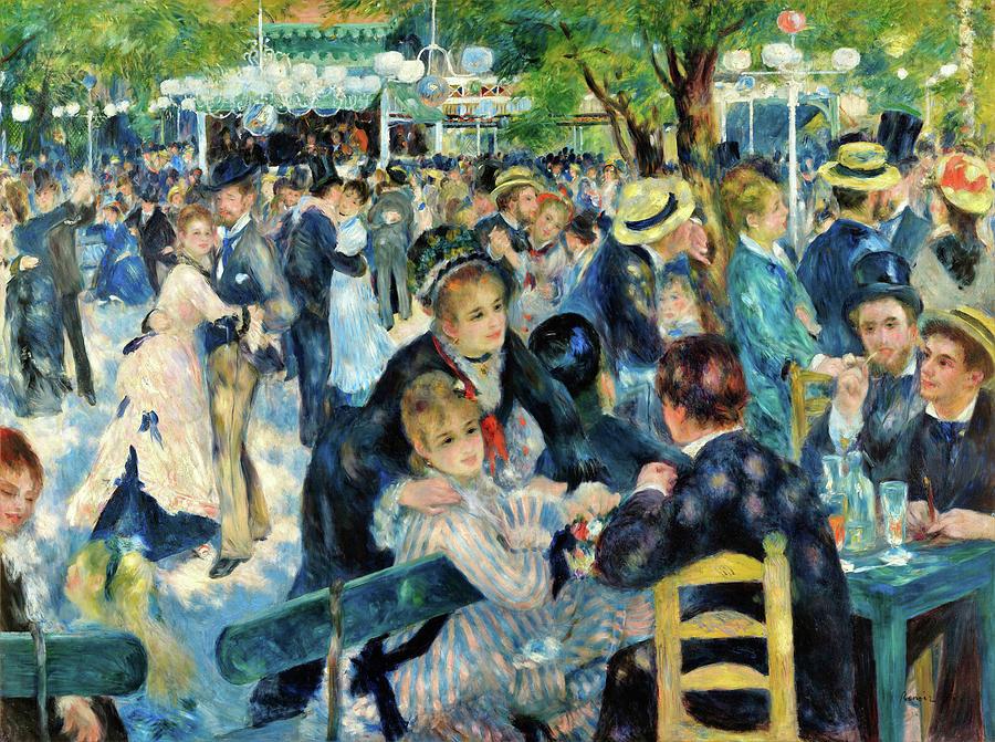 Pierre-auguste Renoir Painting - Bal Du Moulin De La Galette - Digital Remastered Edition by Pierre-Auguste Renoir
