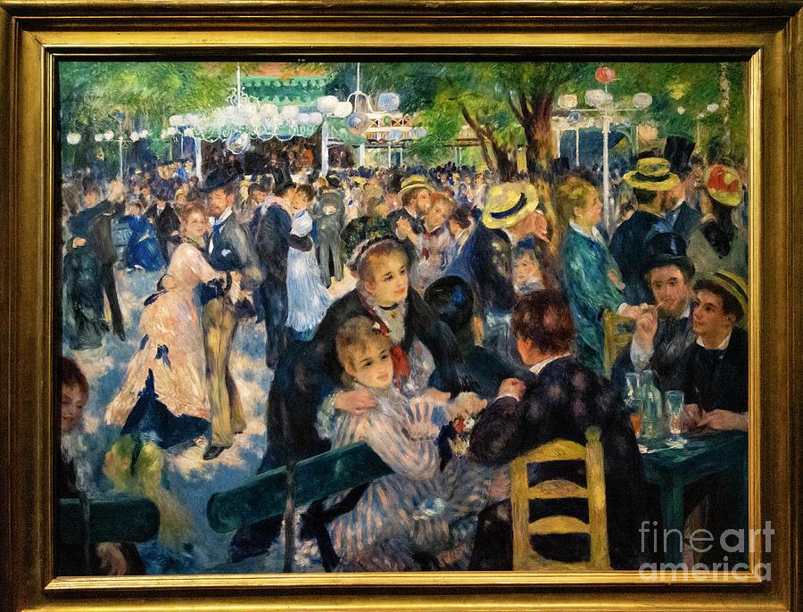 Paris Photograph - Bal Du Moulin De La Galette Renoir Dorsay Paris France by Wayne Moran