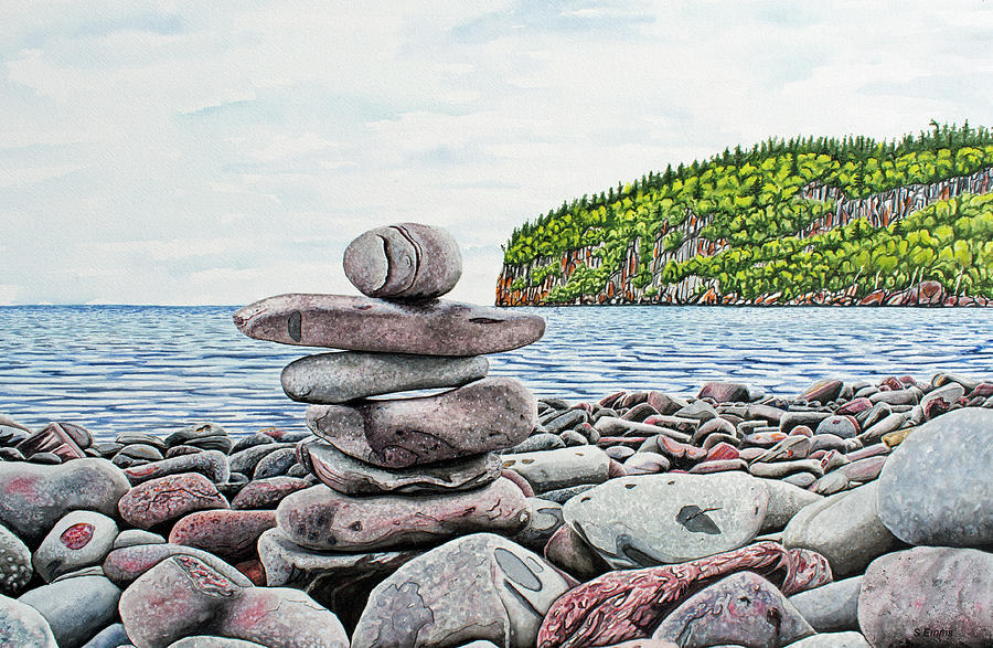 Balance Rocks Painting By Stephen Emms