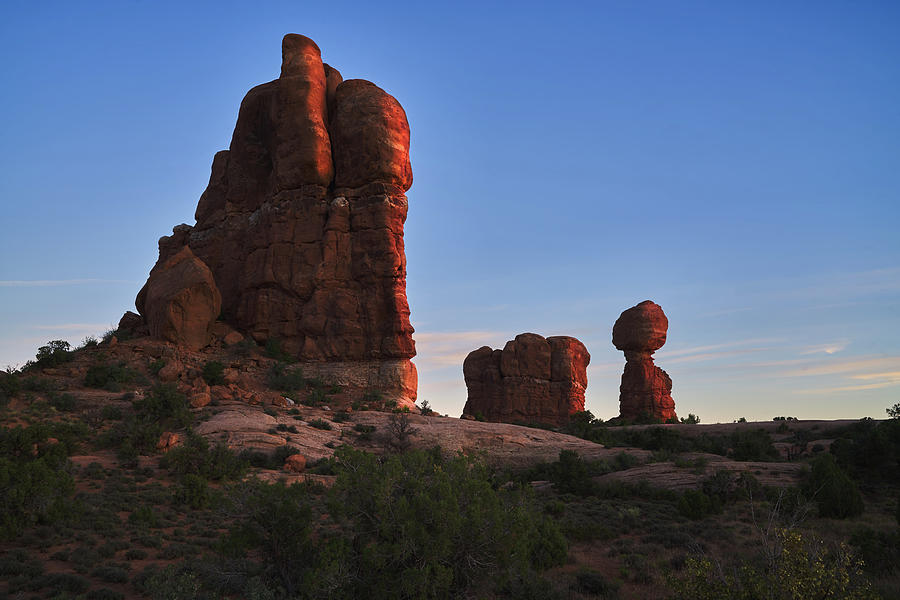 Balanced Rock, Arches National Park, Southwest Art Utah by TL Mair