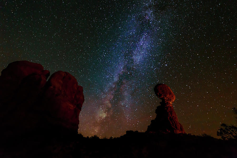 Balanced Rock Below the Milky Way by Tim Stanley