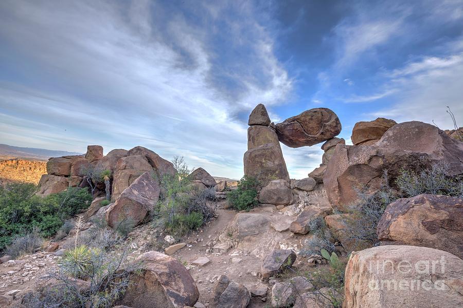Rock Photograph - Balanced Rock by Joe Sparks