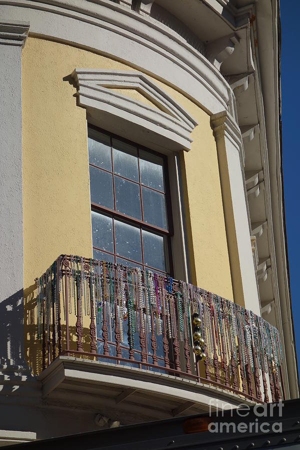 Balcony and Beads - New Orleans by Susan Carella