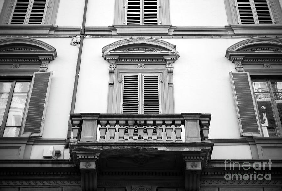 Balcony Photograph - Balcony Lines In Florence by John Rizzuto