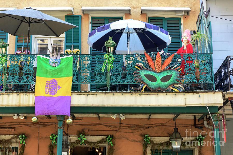 Balcony Photograph - Balcony Party New Orleans by John Rizzuto