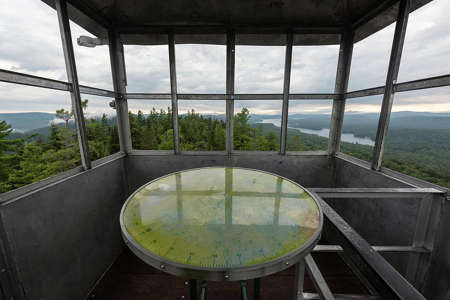 Bald Mountain Photograph - Bald Mountain Firetower Ne by Brad Wenskoski