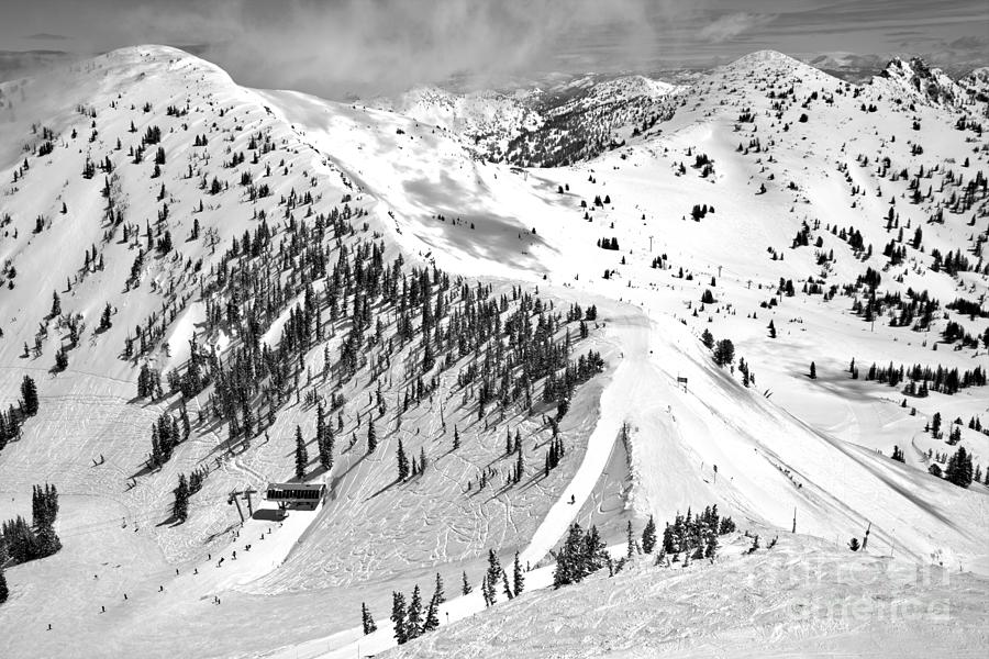 Baldy Ridgeline Black And White by Adam Jewell