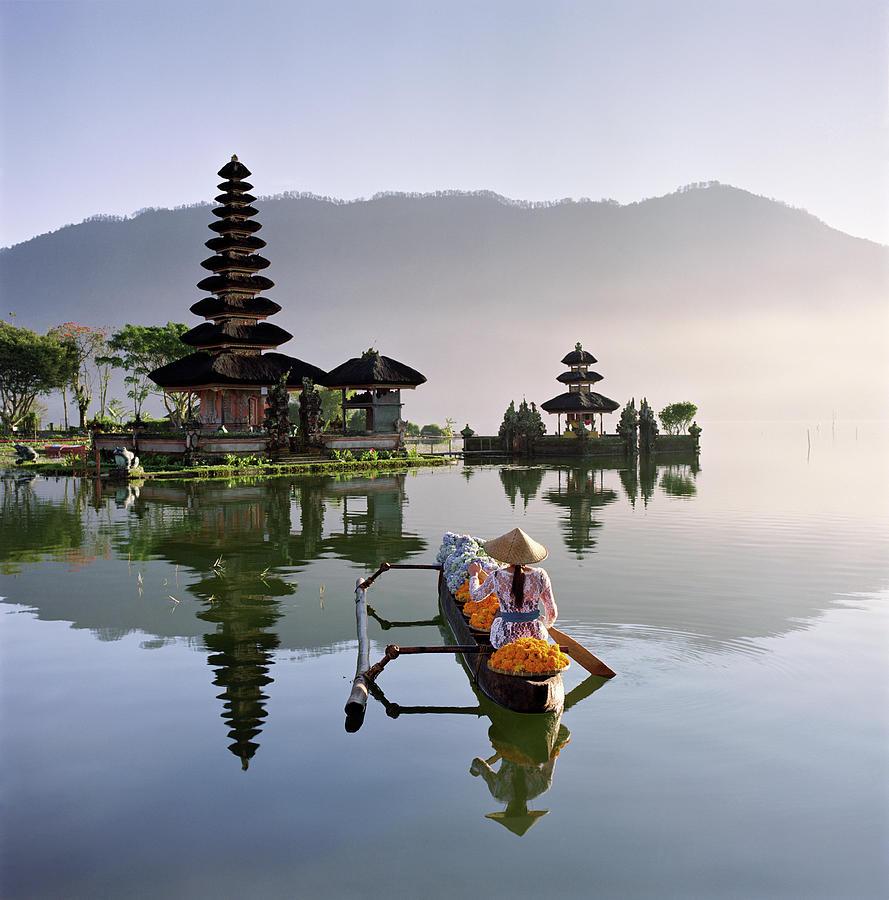 Bali, Pura Ulun Danu Bratan Temple Photograph by Martin Puddy