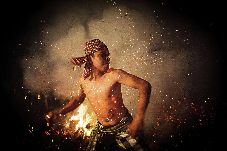 Balinese Fire Ritual Held On Eve Of Photograph by Agung Parameswara