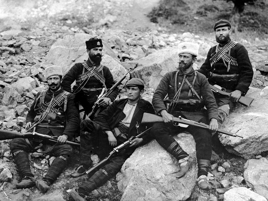 Balkan Soldiers Photograph by Topical Press Agency
