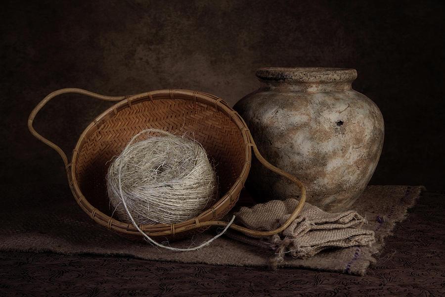 Bag Photograph - Ball Of Twine by Tom Mc Nemar