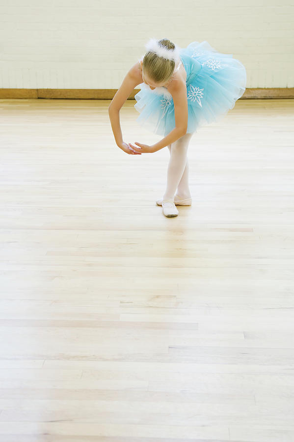Ballerina  8-9 Dancing In Studio Photograph by Inti St. Clair