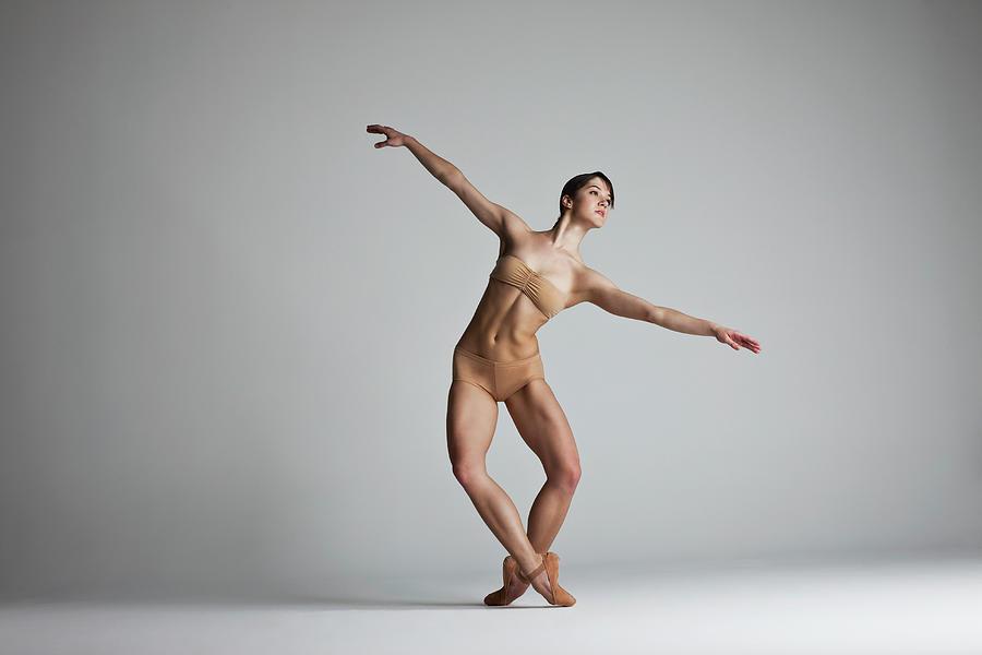 Ballerina Balancing Photograph by Nisian Hughes