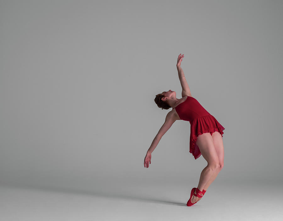 Ballerina Balancing On Point Photograph by Nisian Hughes
