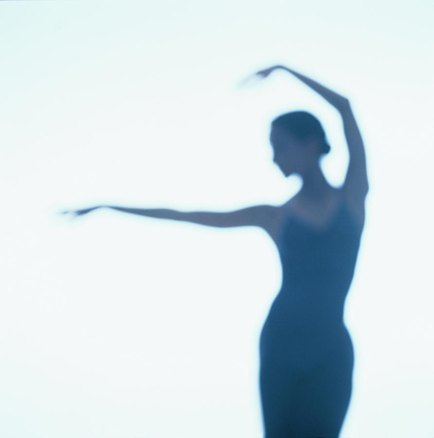 Ballerina Dancing Silhouette Photograph by George Doyle