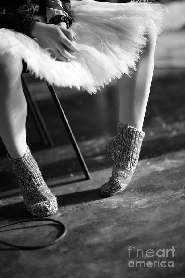 Woman Photograph - Ballerina Getting Ready To The by Anna Jurkovska