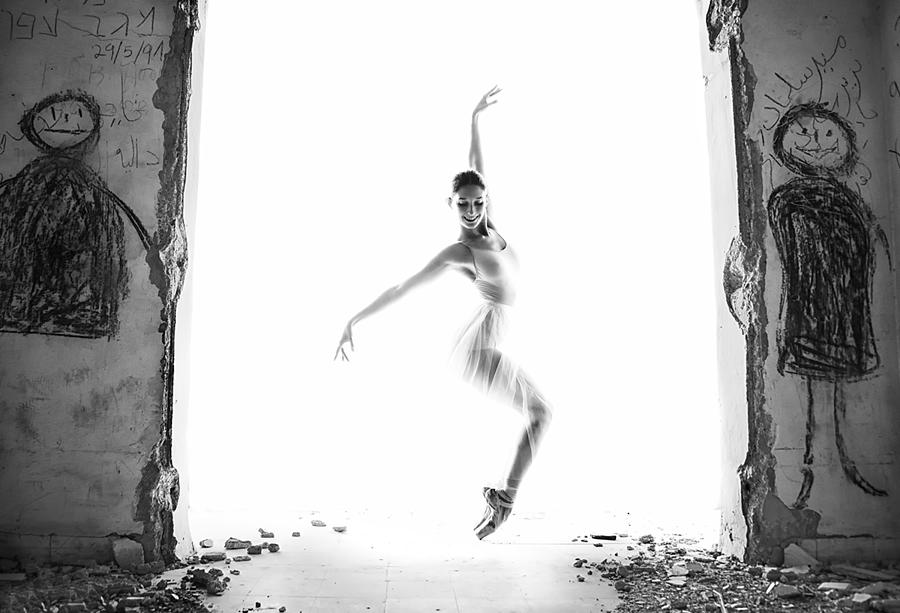 Action Photograph - Ballerina In A Deseted City by Maya Iltus