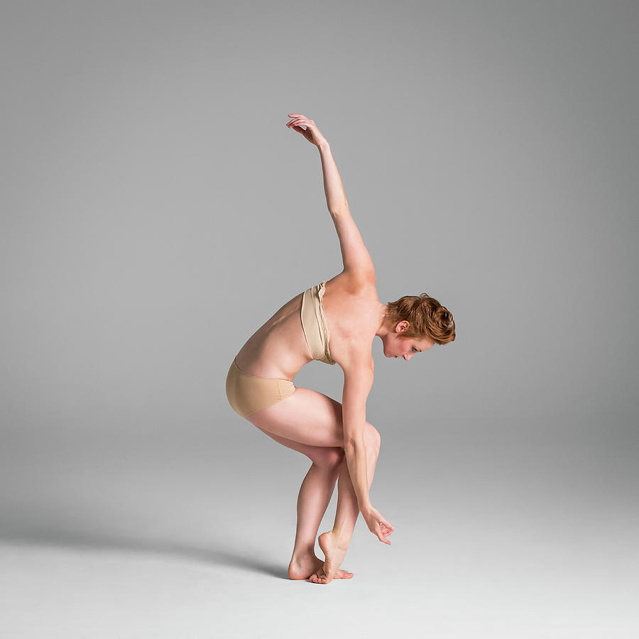 Ballerina In Studio Dancing Photograph by Nisian Hughes