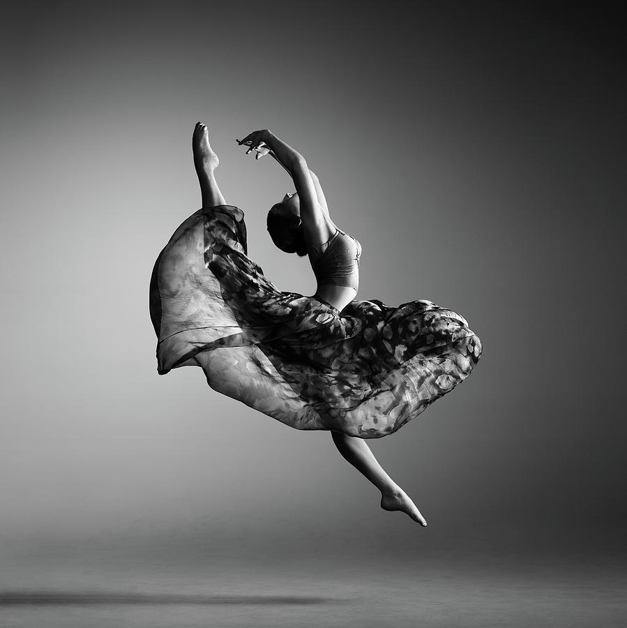 Ballerina Jumping Photograph