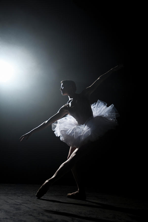 Ballerina Performing On Stage Under Photograph by Nisian Hughes