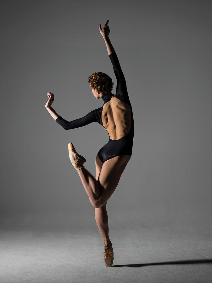 Ballerina Performing Piqué On Pointe Photograph by Nisian Hughes