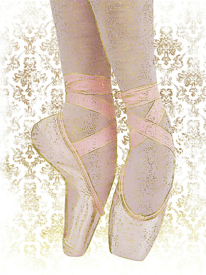 Ballerina Pointe Shoes - Pink Gold