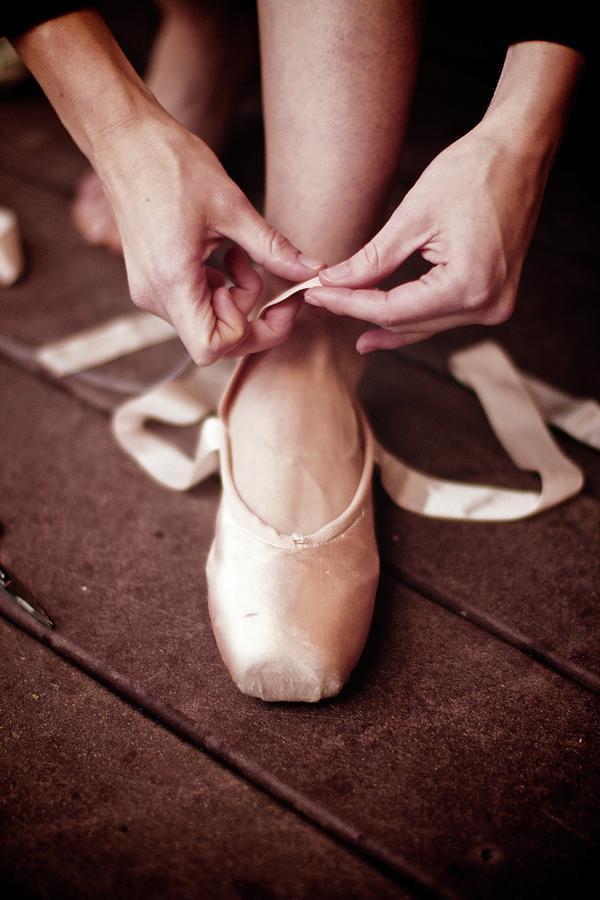 Ballerina Prepares Photograph by David Schloss/maccreate