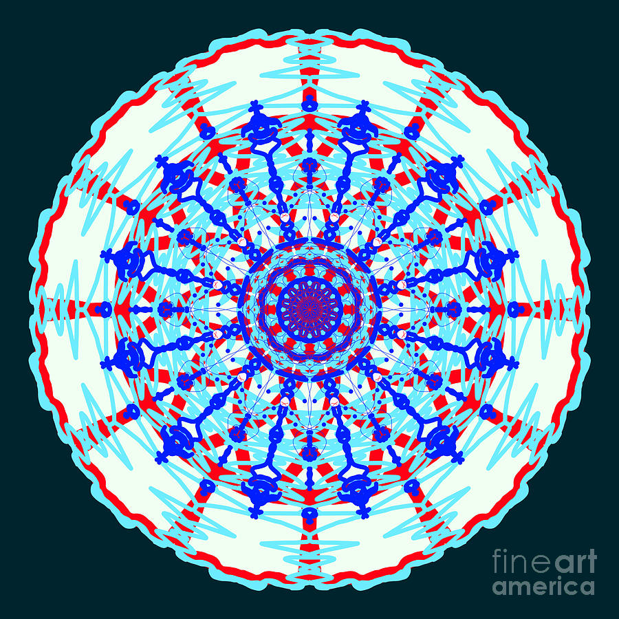 Ballerinas Abstract Mandala by Catherine Lott