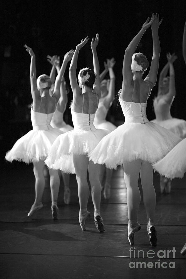 Woman Photograph - Ballerinas On The Stage by Anna Jurkovska