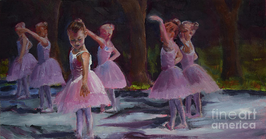 Ballerinas Under the Trees - Dancing by Jan Dappen