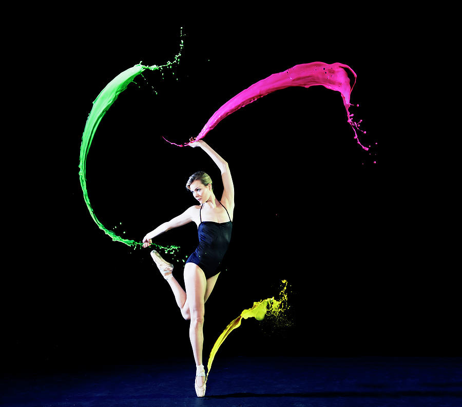 Ballet Dancer Dancing With Paint Photograph by Tara Moore