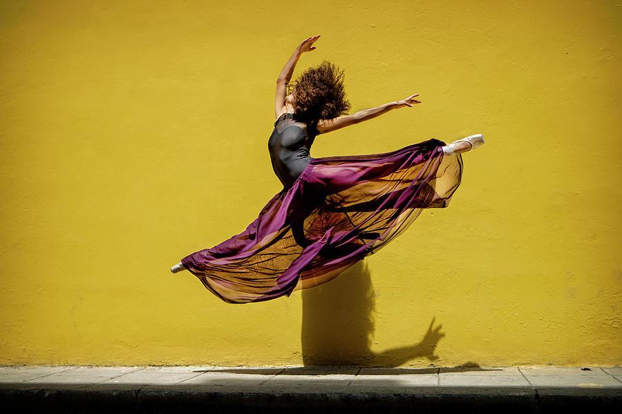 Ballet Photograph - Ballet Dancer Jumping by Joan Gil Raga