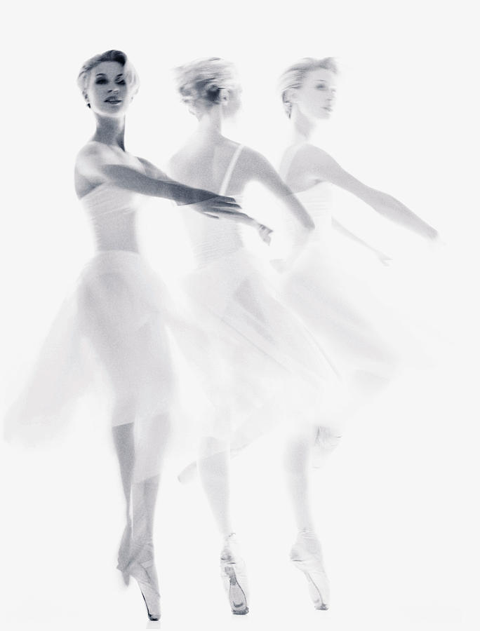 Ballet Dancer Pirouetting Multiple Photograph by Getty Images