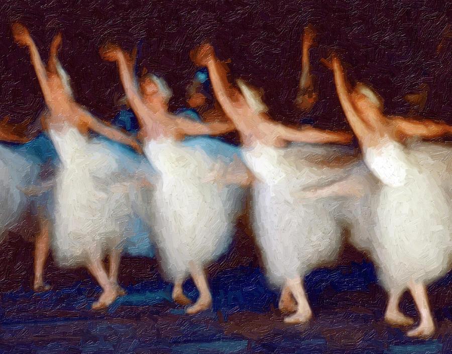 Ballet Dancers Dancing On Stage Digital Art by Harald Sund