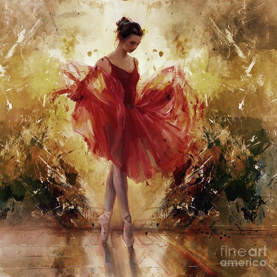 Ballerina Painting - Ballet Girl 8834j by Gull G