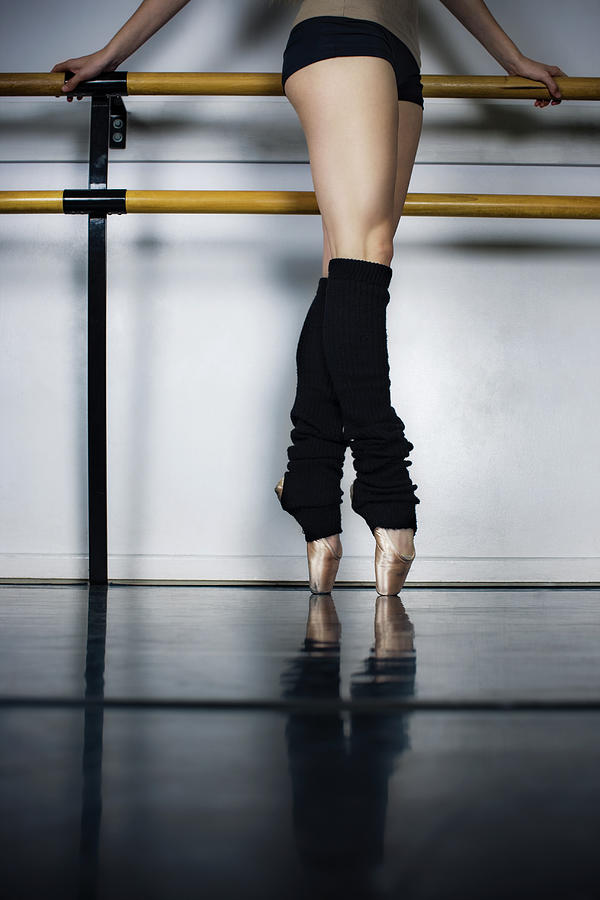 Ballet Holdiing Bar In Classic Pointe Photograph by Patrik Giardino
