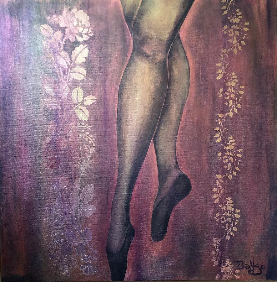 Ballet Painting - Ballet Legs by Ron Tango Jr