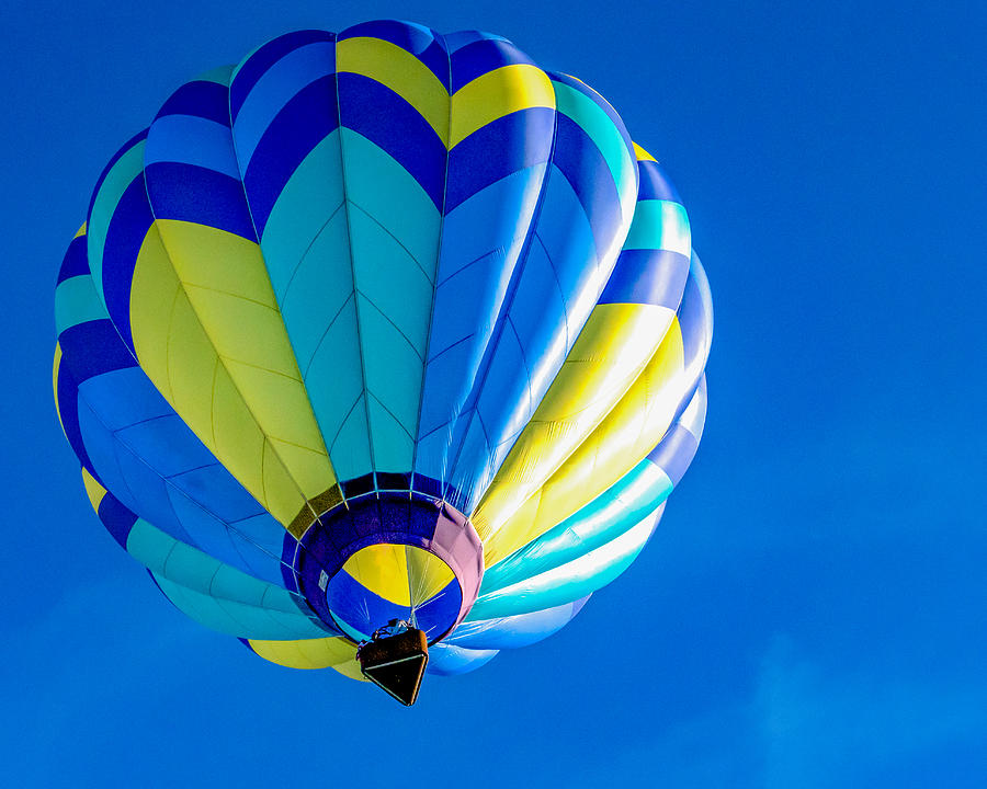 Balloon Blue Photograph by Mark Miller