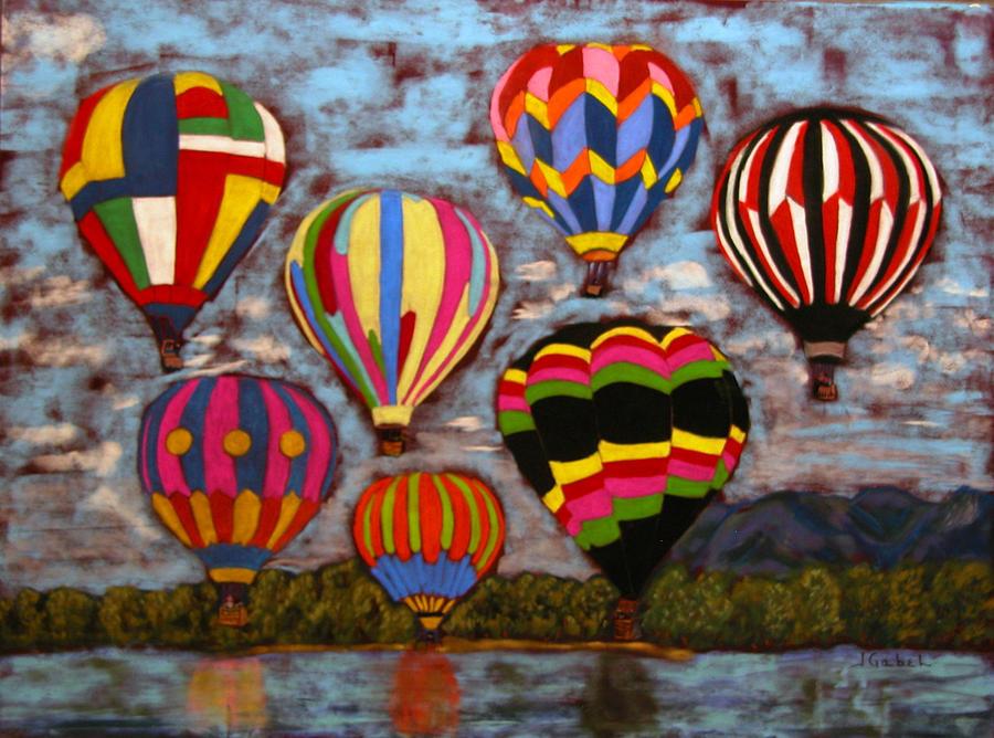 Pastel Pastel - Balloon Family by Laura Gabel