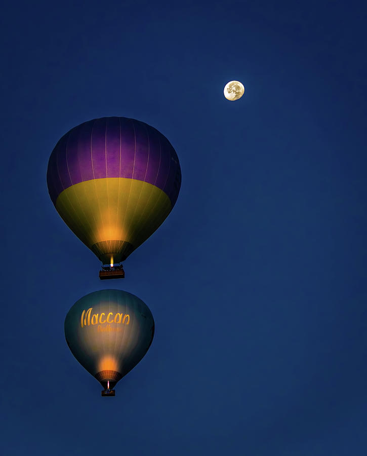 Balloons and the Moon by Francisco Gomez