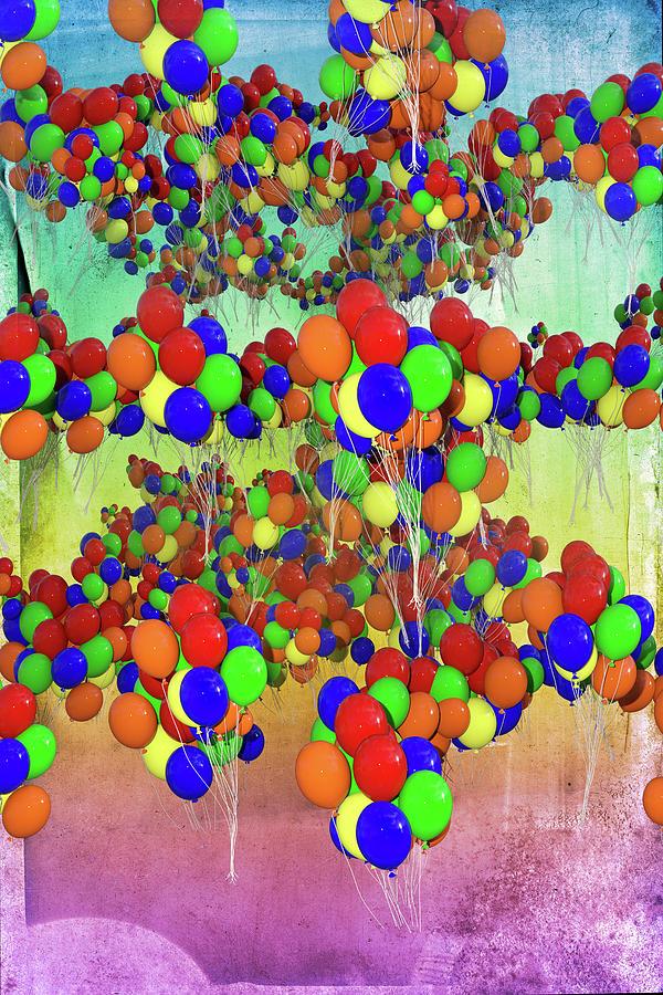 Balloon Digital Art - Balloons Everywhere by Betsy Knapp
