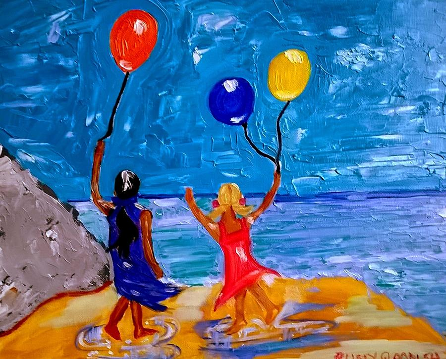 Balloons Over Caswell Bay by Rusty Gladdish