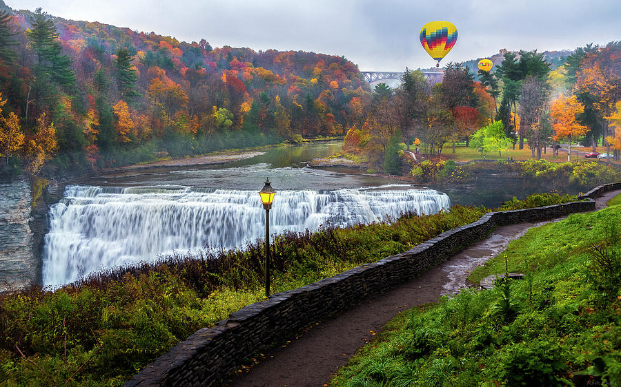 Balloons over Letchworth by Mark Papke