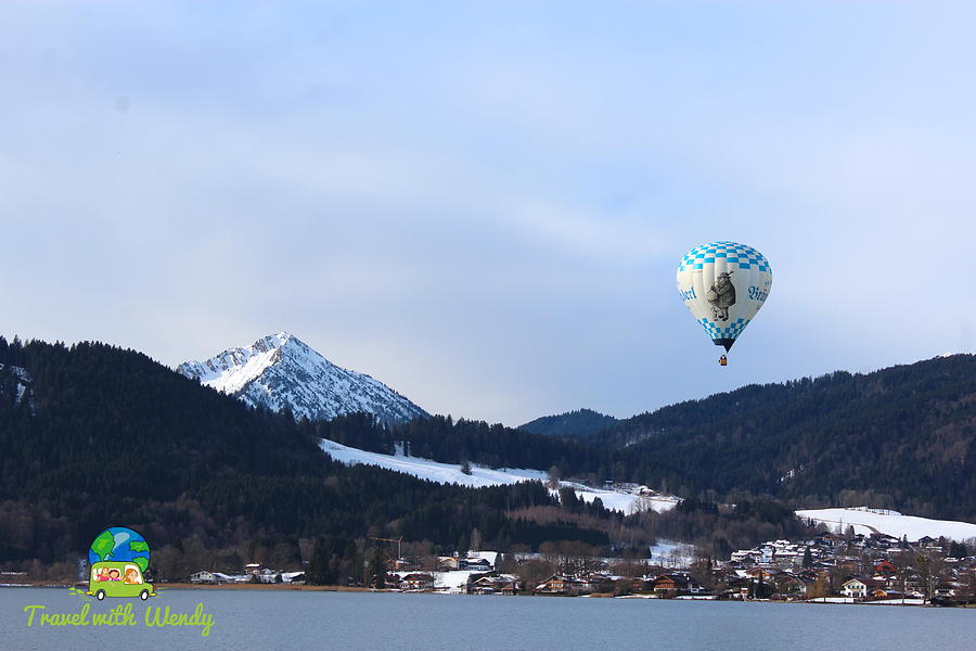 Hot Air Balloons Photograph - Balloons over Tegernsee by Wendy Payne