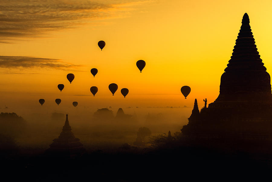 Asia Photograph - Balloons by Witold Ziomek