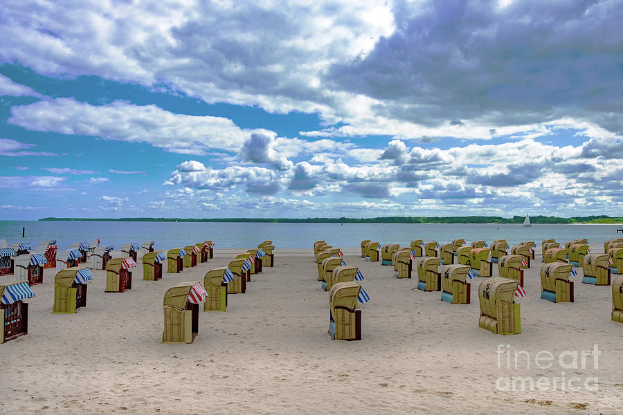 Baltic sea.Empty summer beach by Marina Usmanskaya