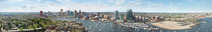 Baltimore City Skyline And Iner Harbour Photograph by Greg Pease